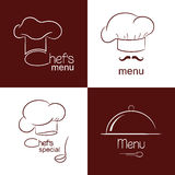 Restaurant menu icons Stock Images