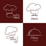 Restaurant menu icons Stock Images
