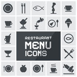 Restaurant Menu Icons Set Royalty Free Stock Images