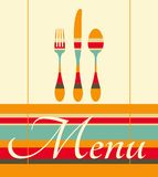 Restaurant menu illustration Stock Photo
