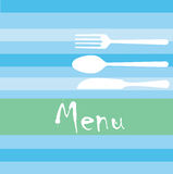 Restaurant menu. Illustration of a modern restaurant menu design Royalty Free Stock Photography