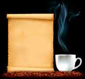 Restaurant menu on the old paper and coffee Royalty Free Stock Photos