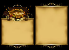Restaurant menu in the old style Royalty Free Stock Image