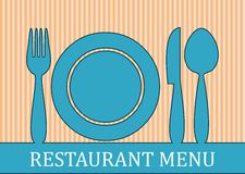 Restaurant menu stock illustration