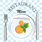 Restaurant menu Stock Image