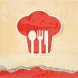 Restaurant menu retro poster. Retro paper background Stock Image