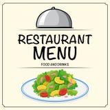 Restaurant menu with salad. Illustration Royalty Free Stock Photo