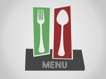Restaurant menu. Menu for restaurant with spoon and fork Royalty Free Stock Images