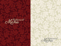 Restaurant menu tempale design Royalty Free Stock Images