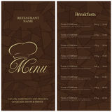 Restaurant menu tempale design. Vector available Stock Photos