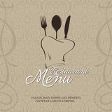 Restaurant menu tempale design Stock Images