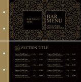 Restaurant menu tempale design. Vector available Royalty Free Stock Photography
