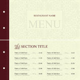 Restaurant menu tempale design Stock Photos