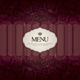 Restaurant menu tempale design Royalty Free Stock Images