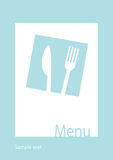 Restaurant menu template. Menu or restaurant invitation card. Vector illustration Royalty Free Stock Image