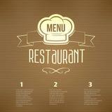 Restaurant menu template Stock Photos