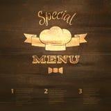 Restaurant menu template Stock Photography