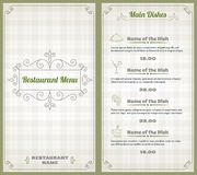Restaurant menu template Stock Image