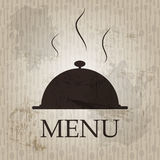 Restaurant menu template in grunge retro style. Vector illustration Stock Images