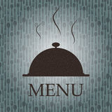 Restaurant menu template in grunge retro style Stock Photography