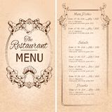 Restaurant menu template Royalty Free Stock Photo