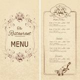 Restaurant menu template � Royalty Free Stock Photography