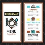 Restaurant Menu Template Stock Images