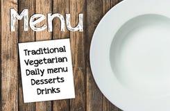 Restaurant menu template. Royalty Free Stock Photos