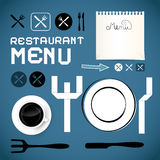 Restaurant Menu Template Royalty Free Stock Image