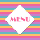 Restaurant Menu Template Vector Illustration Royalty Free Stock Images