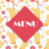 Restaurant Menu Template Vector Illustration Stock Photography