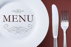 Restaurant menu template. Stock Photos