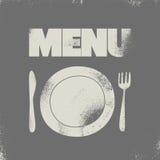 Restaurant menu typographical design. Vector illustration. Stock Photos