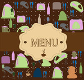 Restaurant menu vector Stock Images