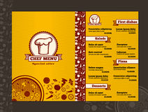 Restaurant menu vector design template mockup. Template restaurant menu, food menu page, menu card cafe illustration Stock Photo
