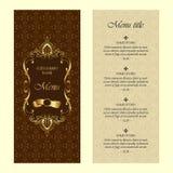 Restaurant menu vector design template - vintage style Stock Photo