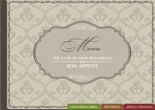 Restaurant menu vector ornament vintage Stock Photography