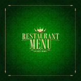 Restaurant Menu , vintage card green Royalty Free Stock Photography