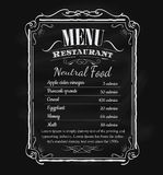 Restaurant menu vintage hand drawn blackboard frame vector Stock Image
