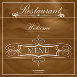 Restaurant menu on the wood background Royalty Free Stock Image