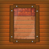 Restaurant menu wooden frame and glass light. Cover Template restaurant menu background wooden frame and glass plate with food and drink Royalty Free Stock Images