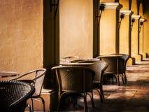 Restaurant met kolommen Stock Foto