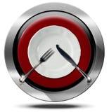 Restaurant - Metal Icon Stock Photos