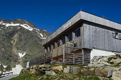 Restaurant 2509 meter height at Alps mountains Stock Image