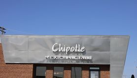 Restaurant mexicain de gril de Chipotle Images stock
