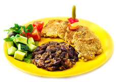 The restaurant mexican menu beff tongue in batter Royalty Free Stock Photo