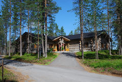Restaurant in the middle of forest, Ukonkivi Stock Images