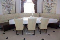 Restaurant mild sofa Stock Image