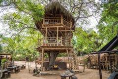 Restaurant mit einem Unterschied nahe dem Strand an Nusa-DUA stockfoto