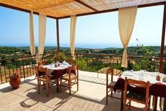 Restaurant mit einer Ansicht Lizenzfreies Stockfoto